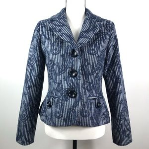 Saks Fifth Avenue | Blue and Gray Paisley Blazer